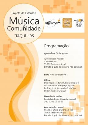 Curso de Educação Musical é desenvolvido pela UFSCar no polo local da UAB - Arte: Divulgação/UFSCar e UAB