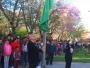 Prefeito Gil Marques Filho hasteia a Bandeira do Brasil (Foto: Divulgação/Sec. de Educação)